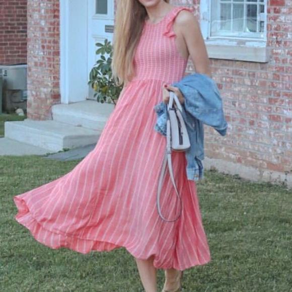 13fc1cab2e8 Free People Dresses   Skirts - Free People chambray butterflies midi dress